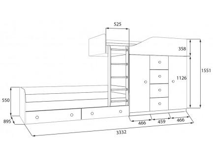 Двухъярусная кровать Астра-6