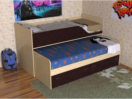 Детская выдвижная двухъярусная кровать Дуэт 2 («Славмебель»)