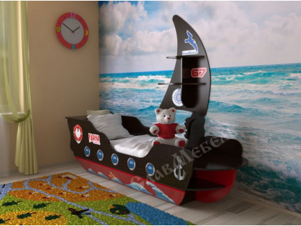 Кровать-корабль для мальчика, детская в виде кровати-кораблика