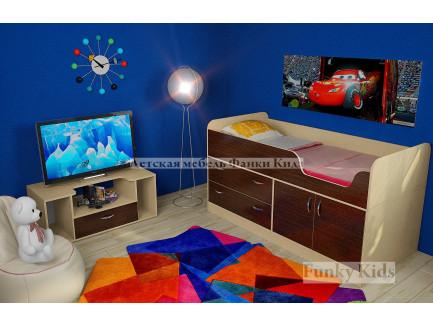 Кровать-чердак Приют-Мини 007 М3, М4 (детская фабрики «Сканд-Мебель»)