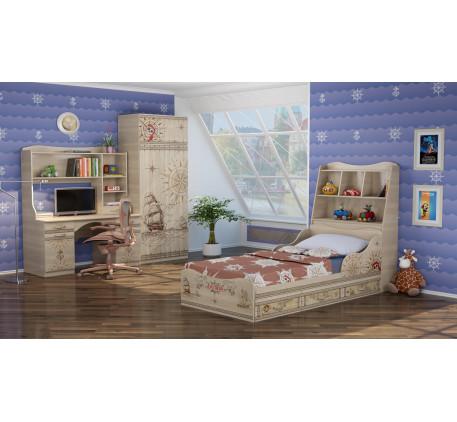 Детская мебель Квест. Комната №2 с кроватью 190х90 см с бортиками