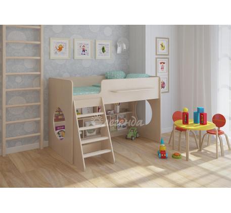 Детская кровать Легенда-22.1 с игровой зоной внизу, спальное место 160х80 см
