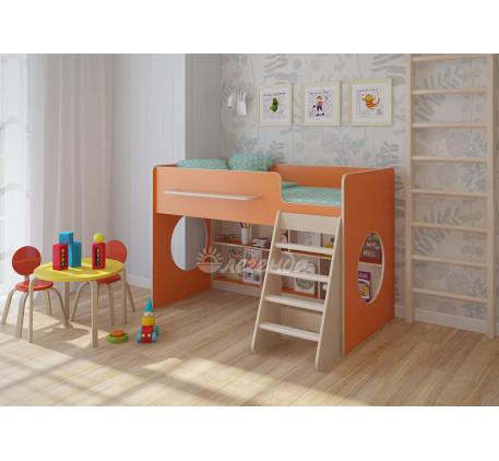 Кровать-чердак Легенда-22.1 с игровой зоной для детей, спальное место 160х80 см