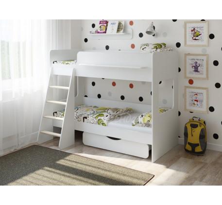 Двухъярусная невысокая кровать Легенда-25.2, спальные места 180х80 см