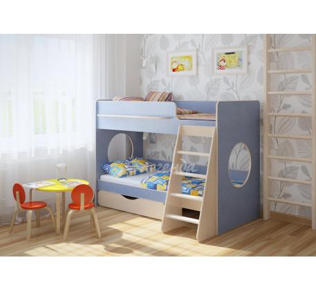 Двухъярусная кровать для мальчиков Легенда-25.2, спальные места 180х80 см