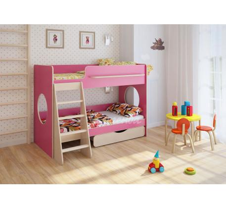 Двухъярусная кровать для девочек Легенда-25.2, спальные места 180х80 см