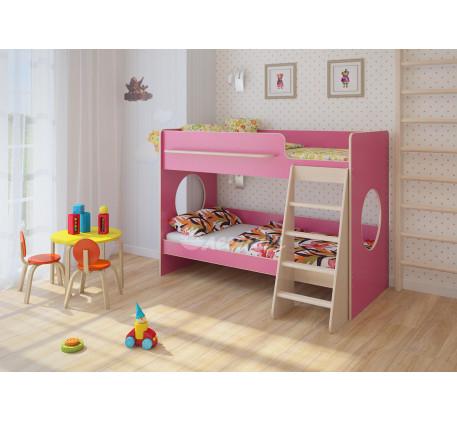 Двухъярусная кровать для девочки Легенда-25.1, спальные места 180х80 см