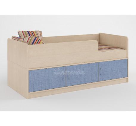 Кровать Легенда-35 для мальчика от 2 лет с бортиками, спальное место 160х70 см