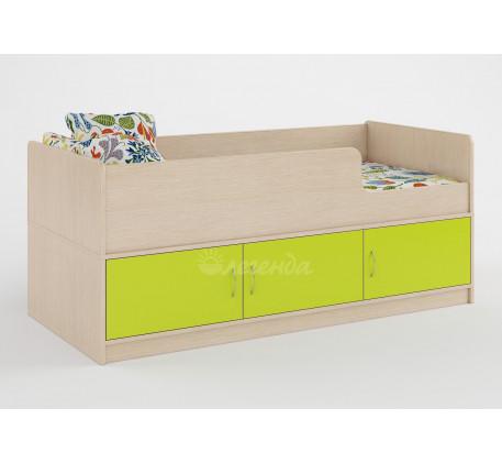 Детская кровать Легенда-35 с ящиками и бортиками, спальное место 160х70 см
