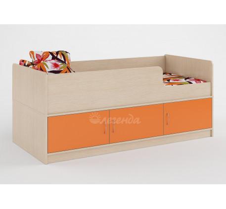 Детская кровать Легенда-35 с бортами и ящиками, спальное место 160х70 см