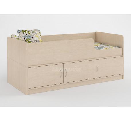 Детская кровать Легенда-35 с бортиками для детей от 2-3 лет, спальное место 160х70 см