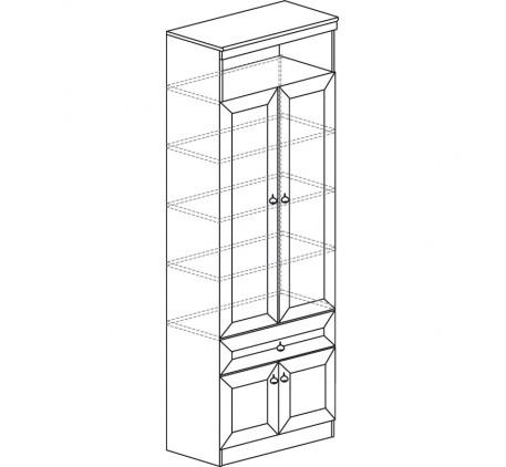 Шкаф для книг Инна 611