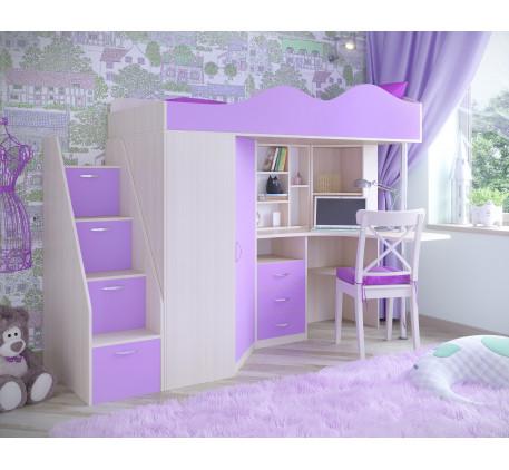 Кровать-чердак Пионер-1, спальное место 190х80 см