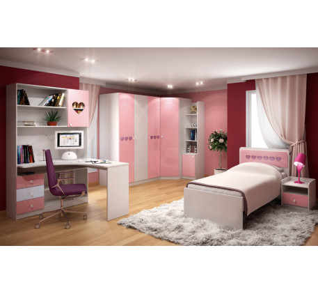 Детская мебель Ральф-4 «Сердца». Комната №1.