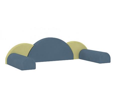 Декоративные подушки для кровати 51.101.02. Комплект: 3 подушки, 2 валика