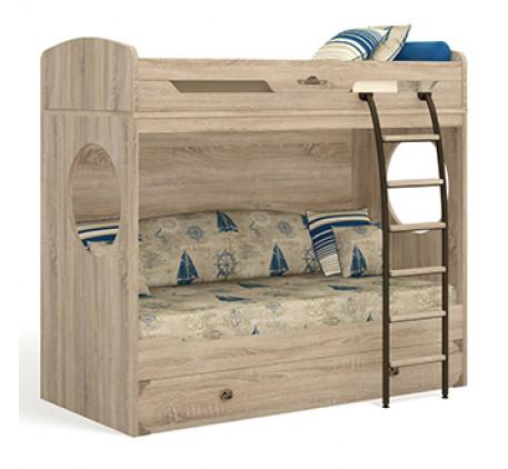 Двухъярусная кровать Атлантида (без лестницы), спальное место 1900х900 мм.