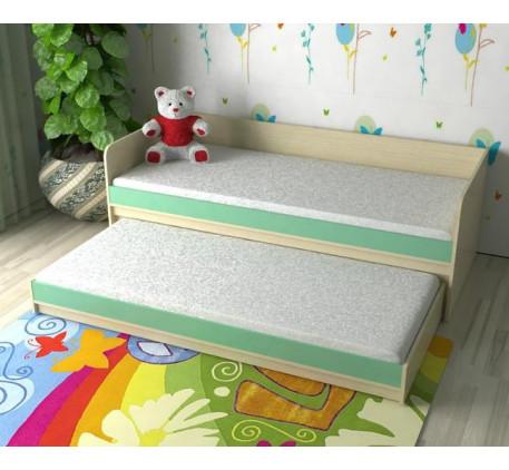 Детская выкатная кровать для двоих детей Дуэт-7, верхнее спальное место 190х80, нижнее 185х75 см