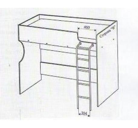Кровать-чердак Акварель 01, спальное место 2000*800 мм.