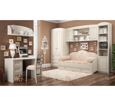 Детская Сюита. Комната №3: Шкаф для одежды 371.08, Кровать 371.50, Секция навесная 371.45, Стеллаж 3..