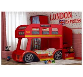 Детская двухъярусная кровать-автобус
