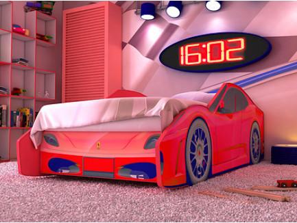 Кровать-машина Феррари (детская кровать Ferrari «Red River»)