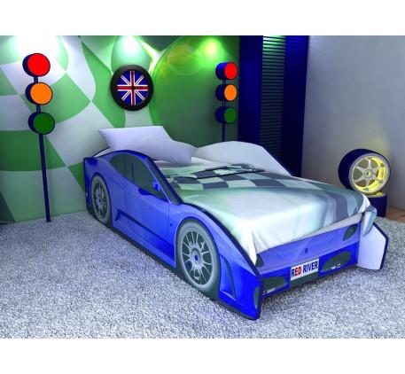 Детская кровать-машина для мальчиков Феррари (Ferrari), спальное место кровати 1700*700 мм.