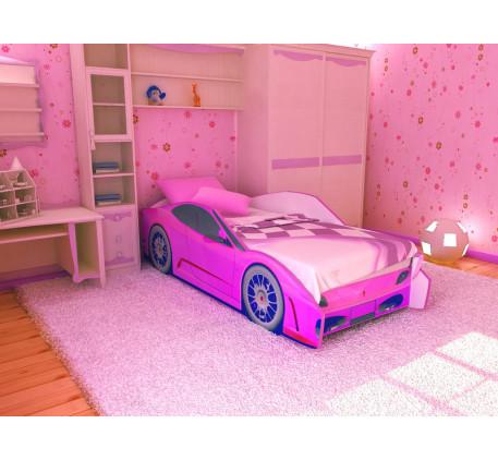 Детская кровать в виде машины Феррари (Ferrari), спальное место кровати 1700*700 мм.