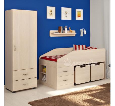 Детская мебель Легенда. Комната №8: детская кровать Легенда-8, пенал Л-01, полка Л-01
