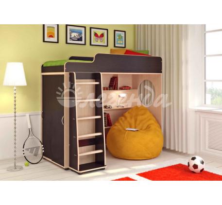 Кровать-чердак Легенда-5 без стола, спальное место кровати 1900*800 мм.