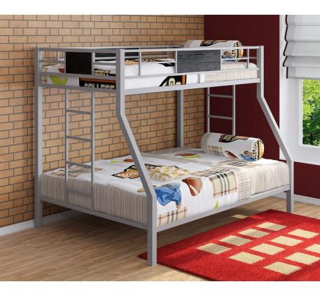 Кровать Гранада двухъярусная металлическая. Верхнее спальное место 190х90 см, нижнее 190х120 см