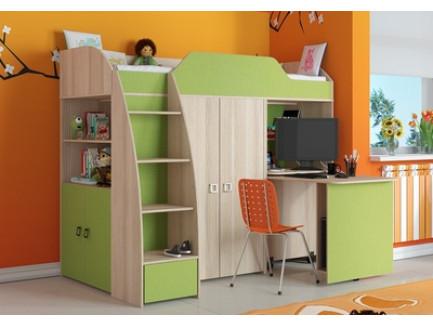 Кровать-чердак Радуга, Радуга-2 (детская мебель «Три-Я»)