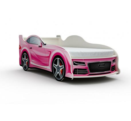 Кровать-машина Ауди (Audi) с матрасом, спальное место кровати 1800*800 мм.