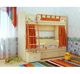 Двухъярусная кровать Немо (детская «Сканд-Мебель»)