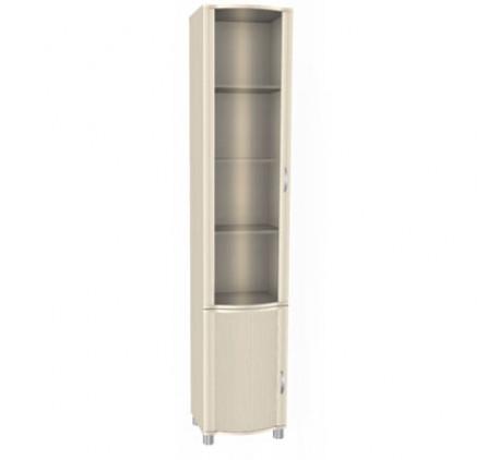 Шкаф со стеклянной и глухой дверьми ШК-922