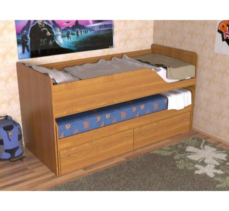 Детская кровать Дуэт-2 для двоих детей с выкатным спальным местом с ящиками