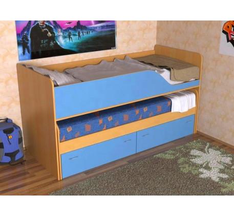 Выдвижная кровать для двоих детей Дуэт-2 с выкатным спальным местом с ящиками