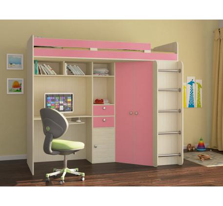 Кровать-чердак для девочки от 5 лет Астра-1, спальное место 195х80 см