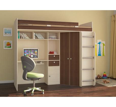 Детская кровать Астра-1 со столом и шкафом, спальное место 195х80 см