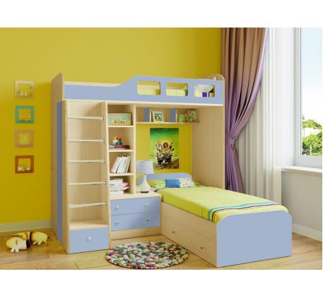 Детская двухъярусная кровать Астра-4, спальные места 195х80 см