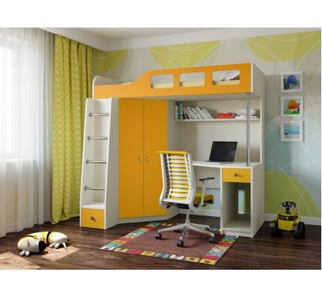 Кровать-чердак для детей от 3 лет Астра-7, спальное место 195х80 см