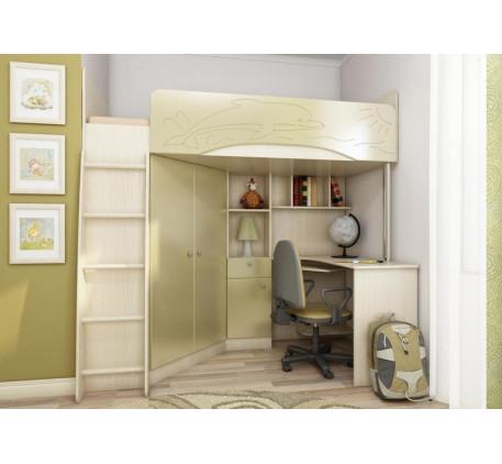 Кровать-чердак для детей от 3 лет Бэмби-4, спальное место 200х90 см