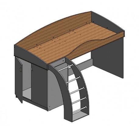 Кровать-чердак Соня-1 со шкафом, спальное место 190х800 см