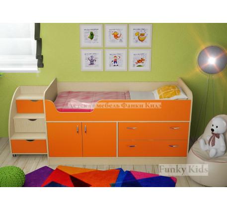 Мини кровать-чердак Фанки Кидз-9 +лестница 13/19, спальное место 160х70 см