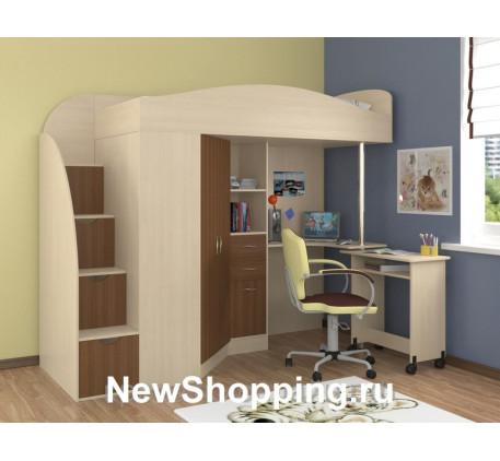 Детская кровать-чердак Теремок-1 Гранд, спальное место кровати 190х80 см