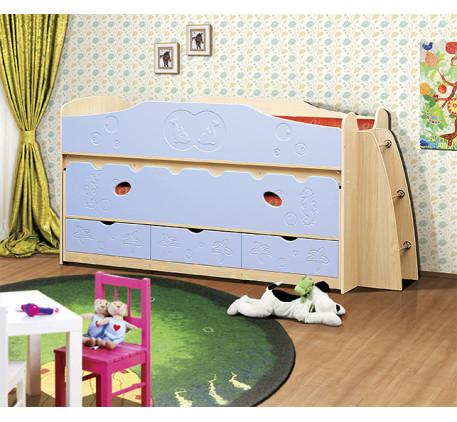 Выдвижная кровать Омега-10. Нижнее выкатное спальное место 1900*800, верхнее 1900*900 мм.
