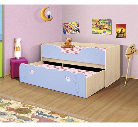 Выдвижная кровать Омега-11. Нижнее выкатное спальное место 1900*800, верхнее 1900*900 мм.
