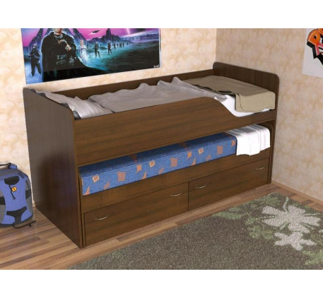Кровать Дуэт-2 выдвижная для двоих детей с выкатными ящиками