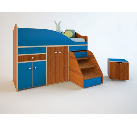 Кровать-чердак Вжик-Эконом, спальное место 160х70 см
