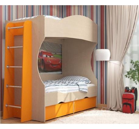 Двухъярусная кровать Дельта 20 +лестница 23-1, спальные места 190х80 см