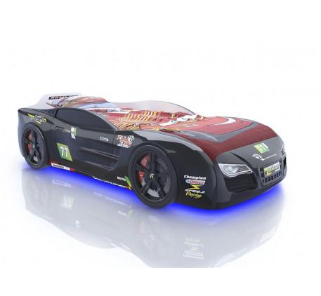 Кровать-машина 3D Romack Renner-2 2015 NEW, спальное место 1800*800 мм. Объемные пластиковые колеса ..